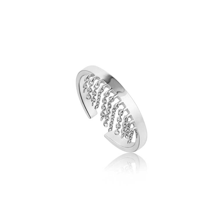 Load image into Gallery viewer, Ring: Silver Fringe Fall Ring by Ania Haie Australia