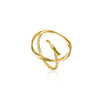 Ring: Gold Twist Circle Adjustable Ring by Ania Haie Australia
