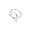 Ring: Silver Twist Circle Adjustable Ring by Ania Haie Australia