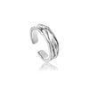 Ring: Silver Crush Adjustable Ring by Ania Haie Australia