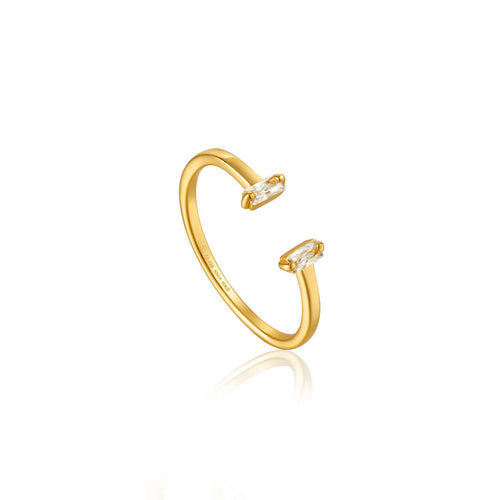 Ring: Gold Glow Adjustable Ring by Ania Haie Australia
