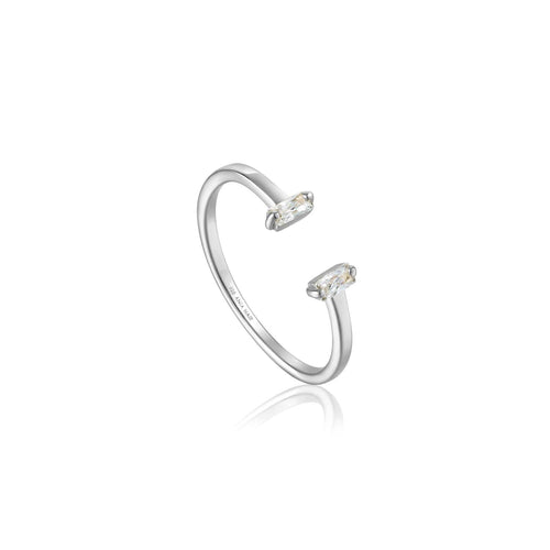 Ring: Silver Glow Adjustable Ring by Ania Haie Australia