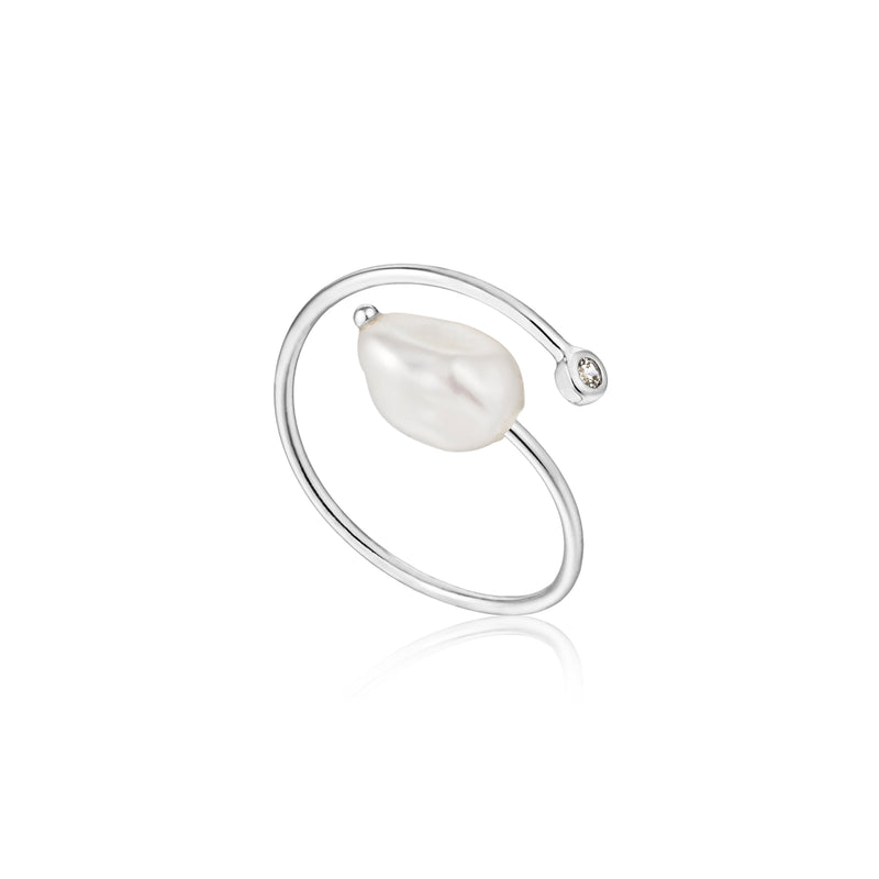 Pearl Twist Ring Silver by Ania Haie