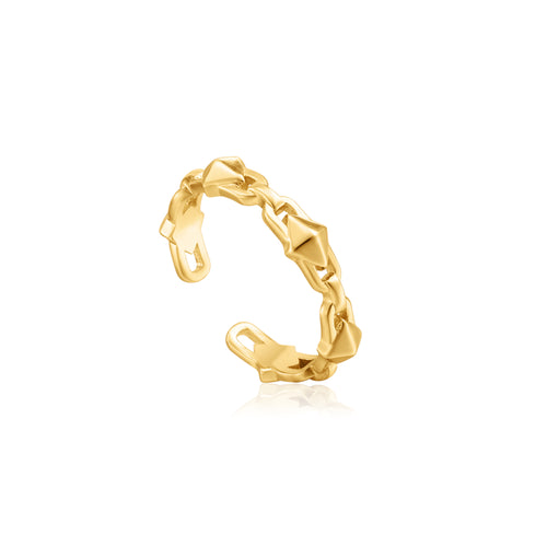 Gold Spike Adjustable Ring by Ania Haie
