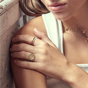 Shop the Look: Emblem Ring Bling 2