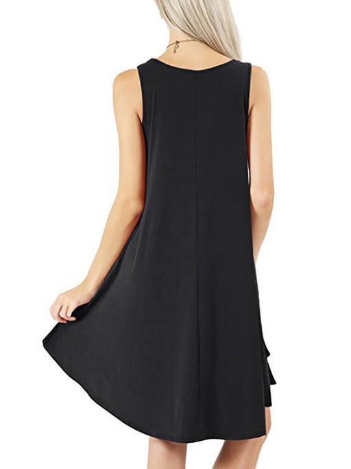 Swing T-Shirt Dresses with Pockets
