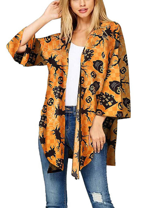 Halloween Cardigan Loose Cover up Blouse