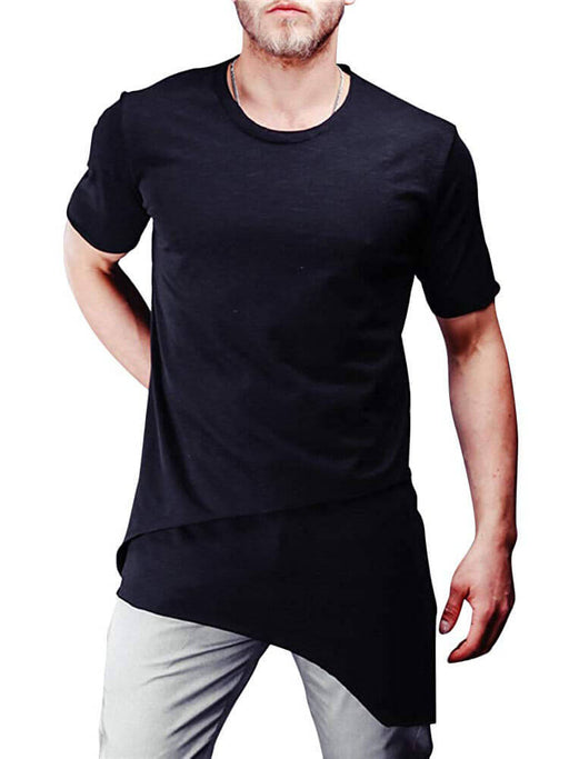 Men Hipster Casual Slim Fit Irregular T Shirts