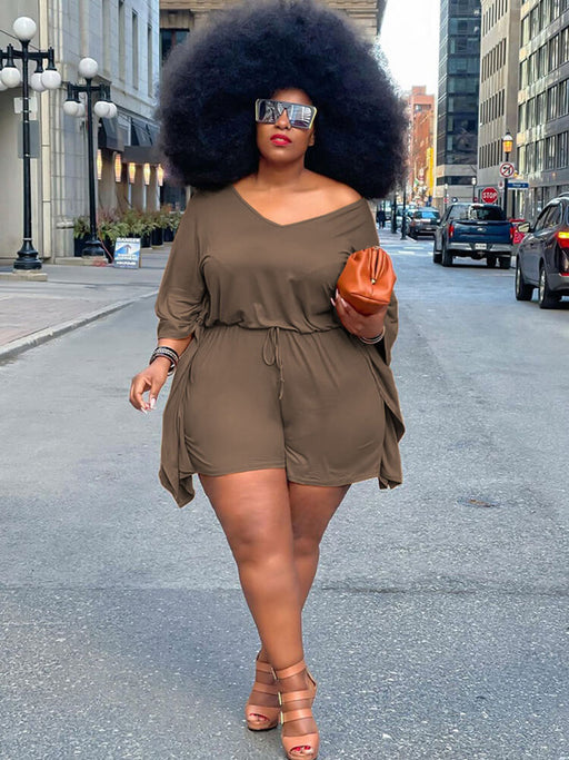 Mens Casual Solid Color Button Down Jumpsuits Rompers