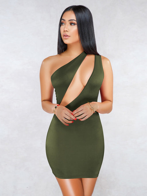 Sexy One Shoulder Mini Club Dresses