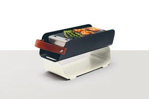 UNA Portable Table-top Charcoal Grill - Cream White