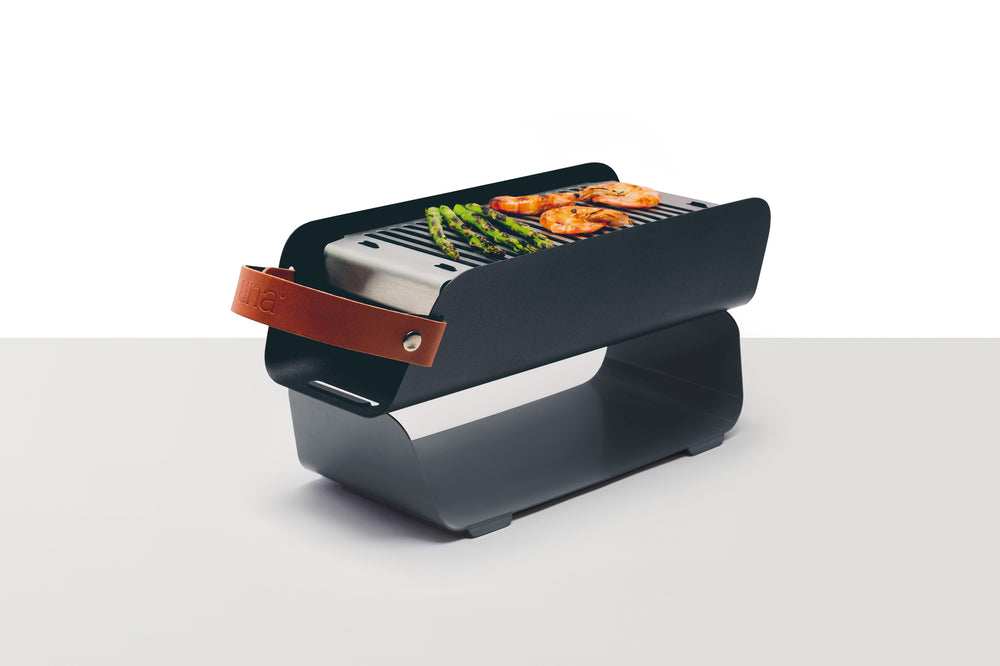UNA Portable Table-top Charcoal Grill - Graphite Grey