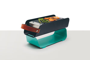 UNA Portable Table-top Charcoal Grill - Mint Turquoise