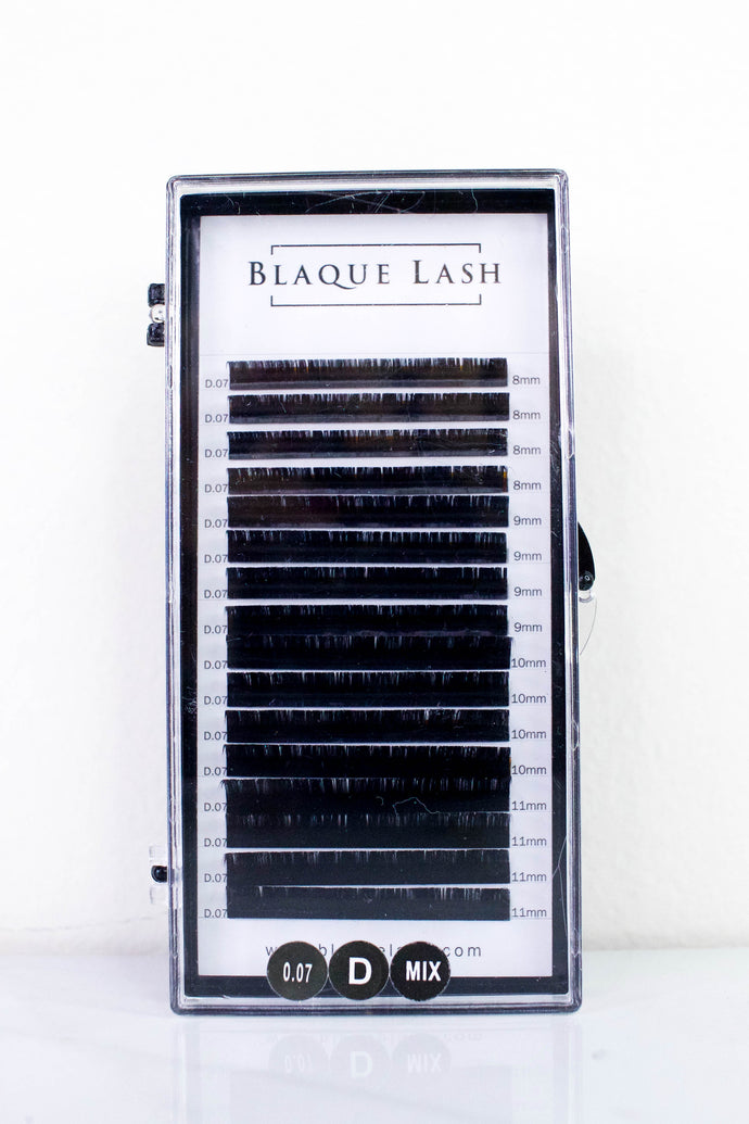Black Synthetic Faux Mink Volume Lash Eyelash Extensions Tray