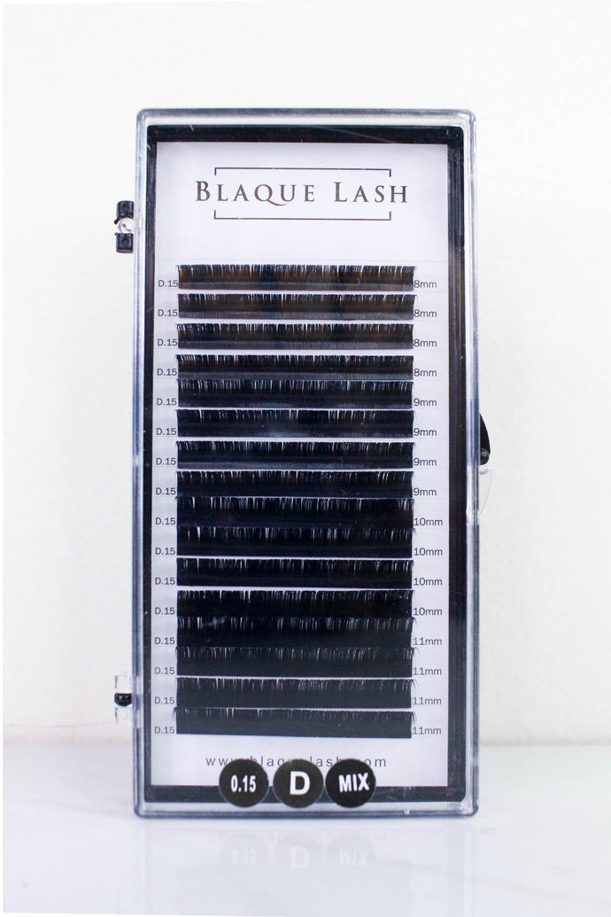 Black Synthetic Eyelash Extensions Tray OC Orange County CA