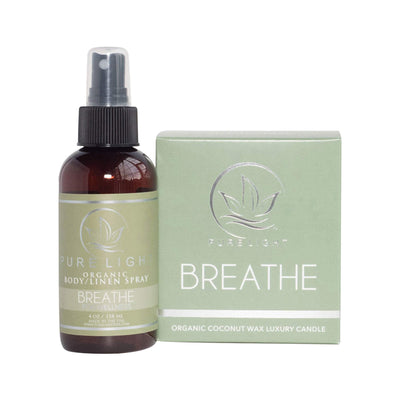 Pure Light Organic Body and Linen Spray, Breathe, 4 oz