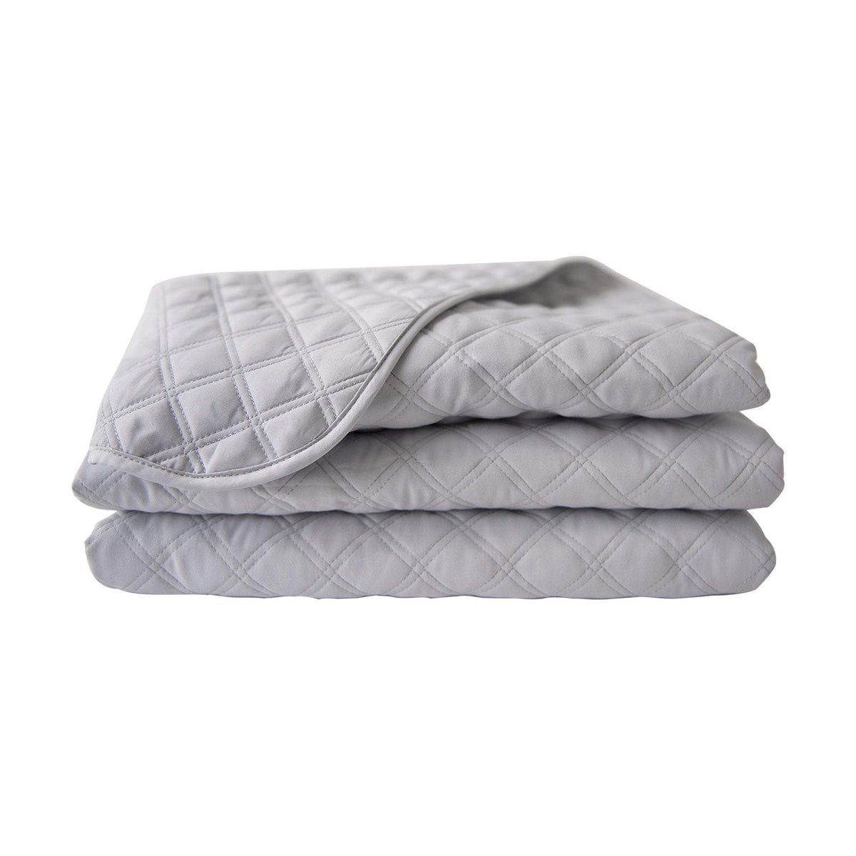 Sposh Microfiber Quilted Blanket, Dove Grey