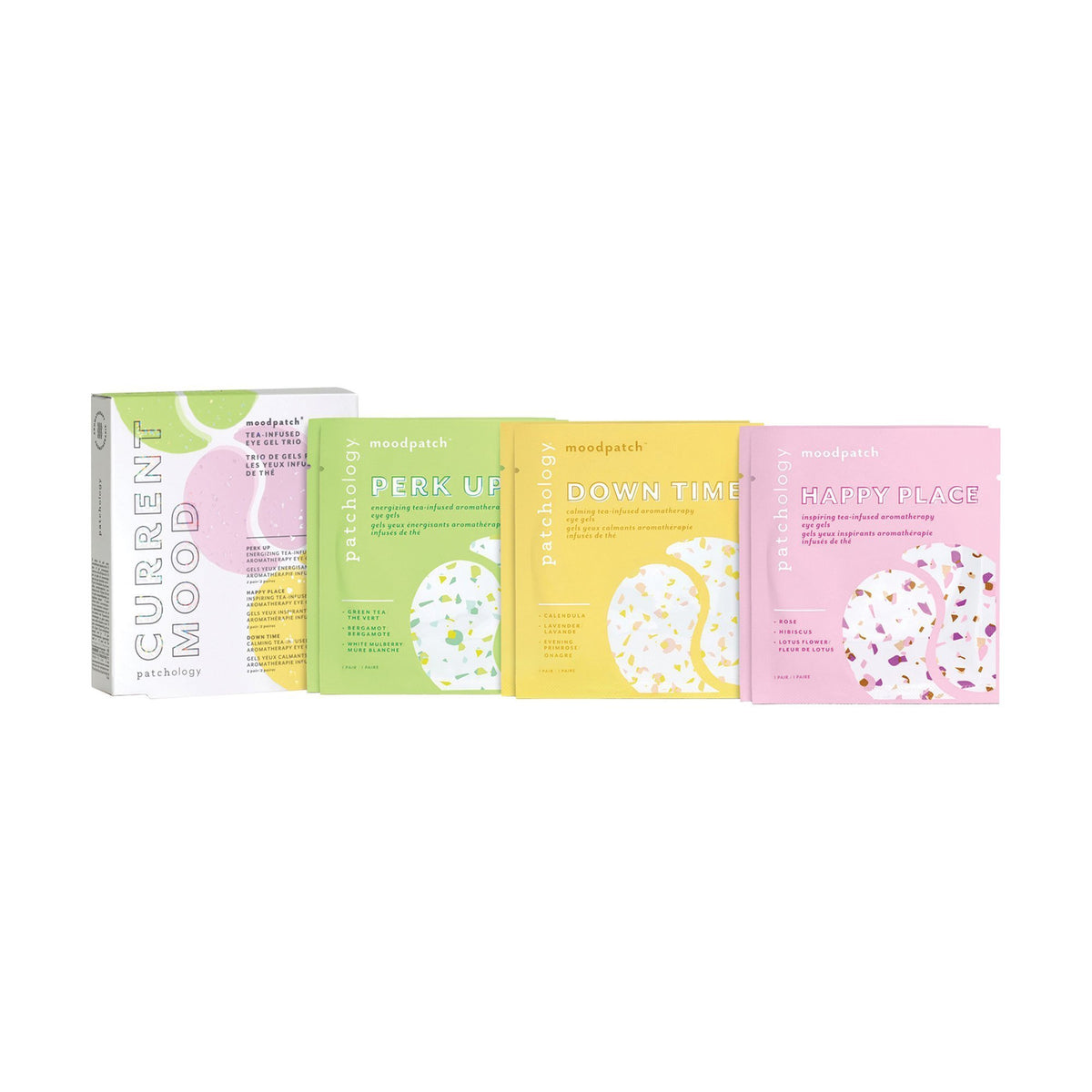 Patchology Moodpatch Current Mood Tea-Infused Eye Gel Trio