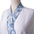 Sposh Microfiber Robe w/Trim White Sapphire Paisley Trim / White Solid Body