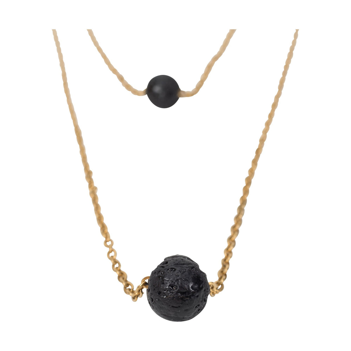 Serina & Company Double Strap Lava Necklace
