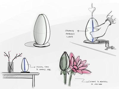 Bloomy Lotus Bud Ultrasonic Diffuser, Space Grey