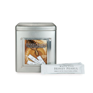 White Lion Honey Pearls Sticks with Tin / 40pc