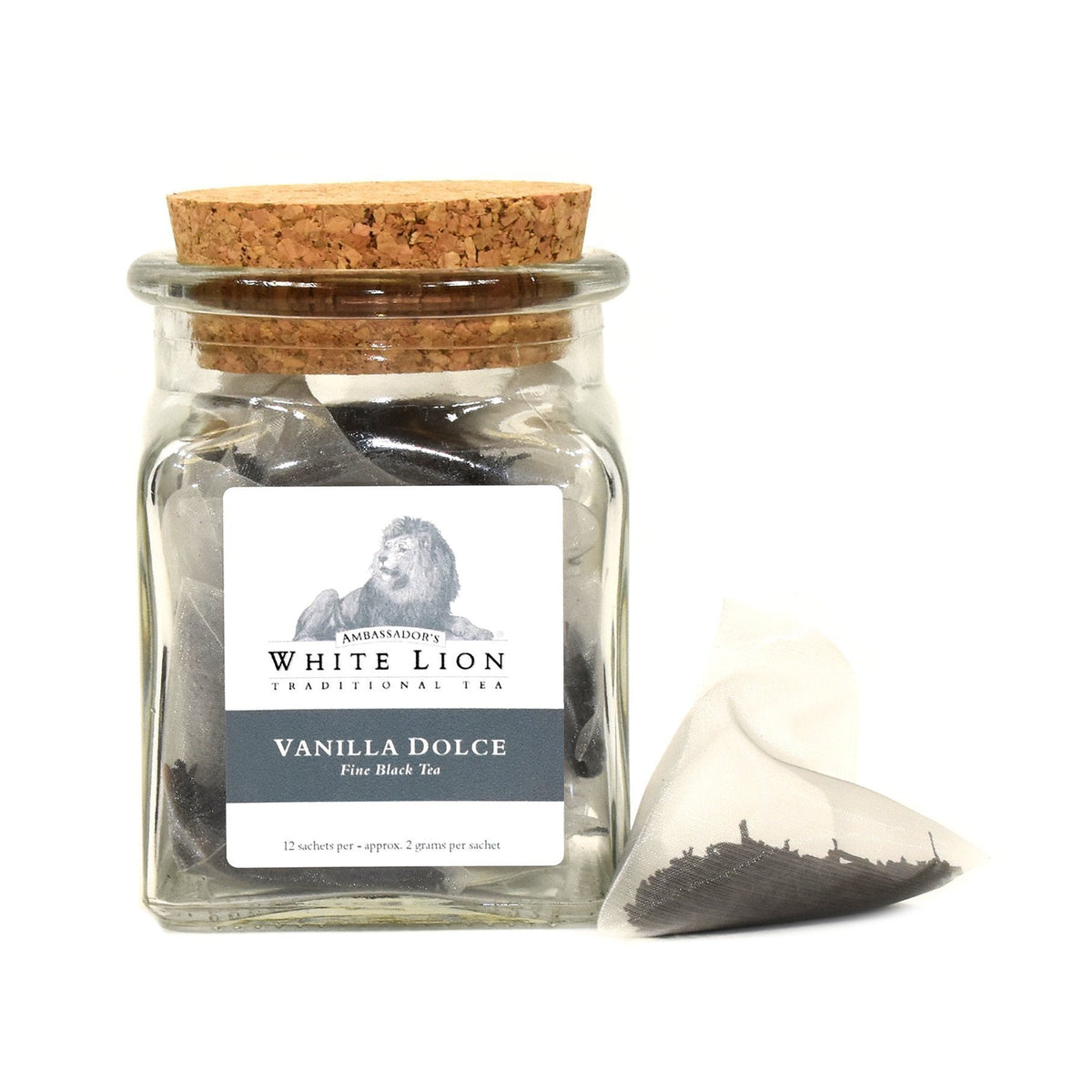 White Lion Vanilla Dolce Tea Jar 12 Ct.
