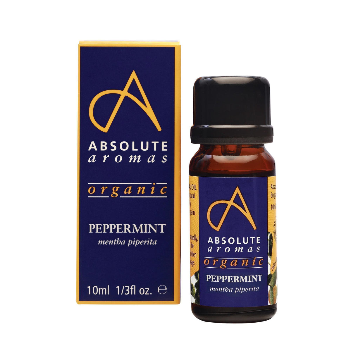 Absolute Aromas Organic Peppermint Essential Oil 0.33 Fl. Oz.