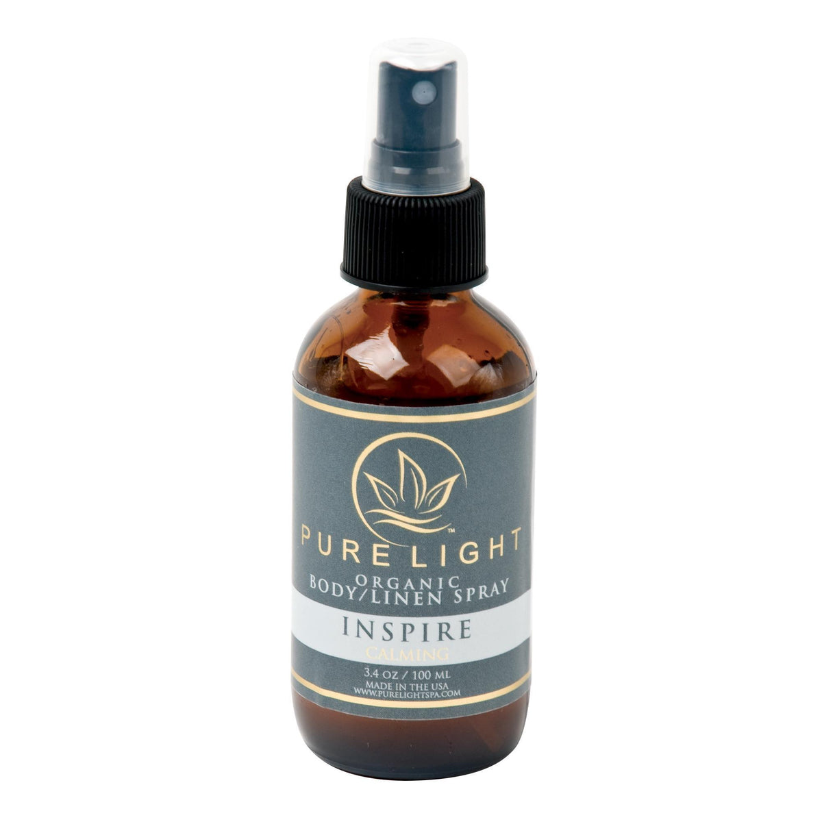 Aromatherapy Pure Light Organic Body  and  Room Spray / Inspire / 4oz