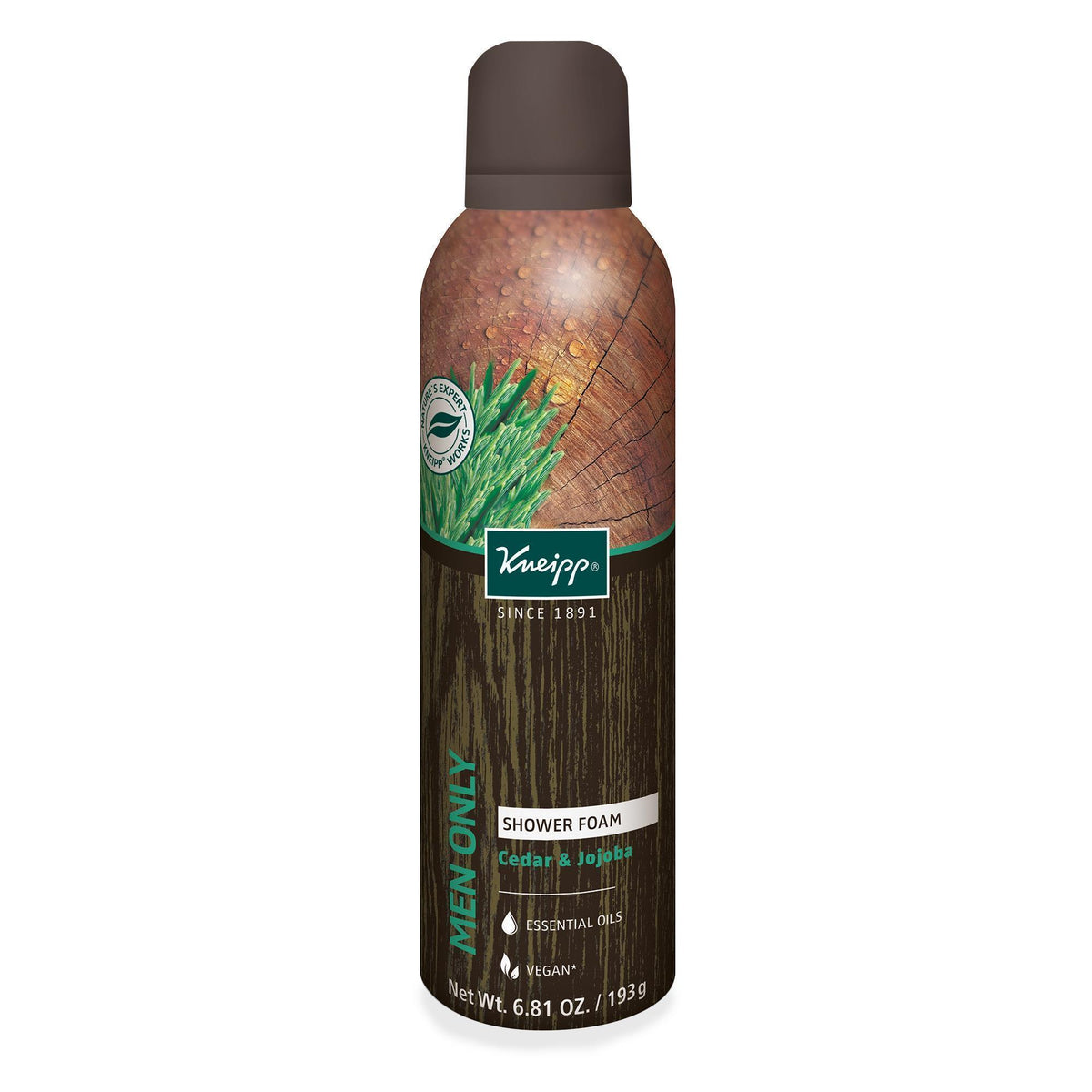 Kneipp Men Only Shower Foam 6.81 Oz.