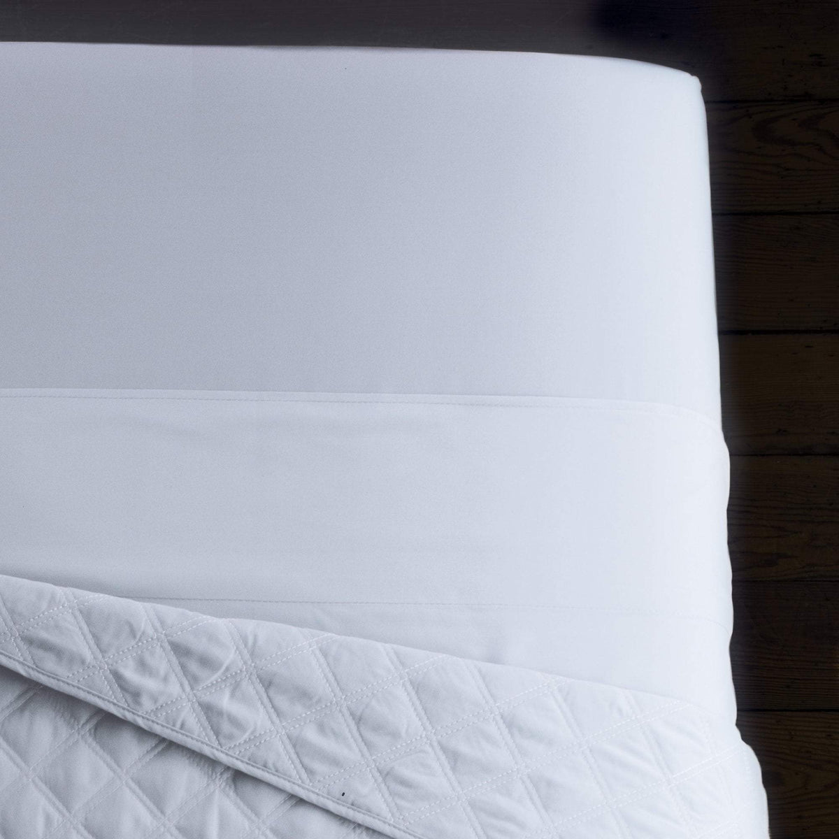 Flat Sheets White Sposh Urban Microfiber Flat Sheet