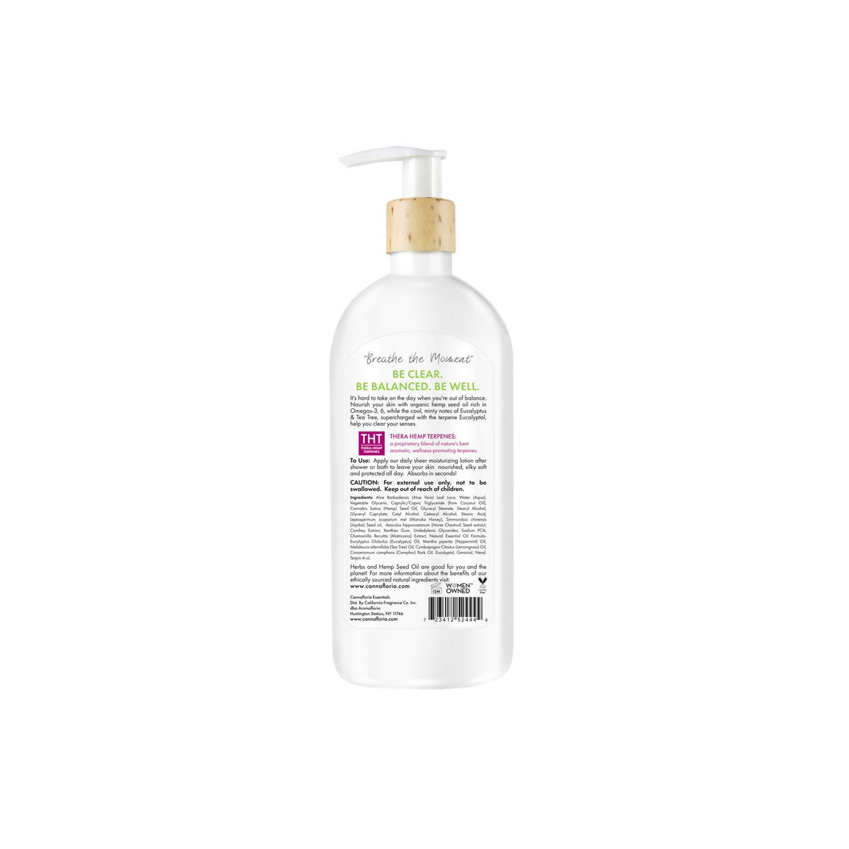 Cannafloria Hemp Body Lotion, Be Clear
