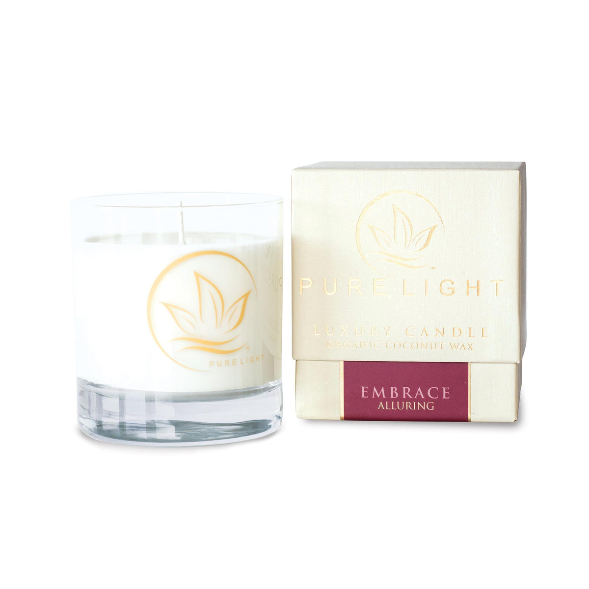 Home & Linens Pure Light Luxury Candle / Embrace / 7.5oz