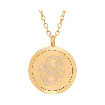 Serina & Company Stainless Steel Golden Waves Pendant