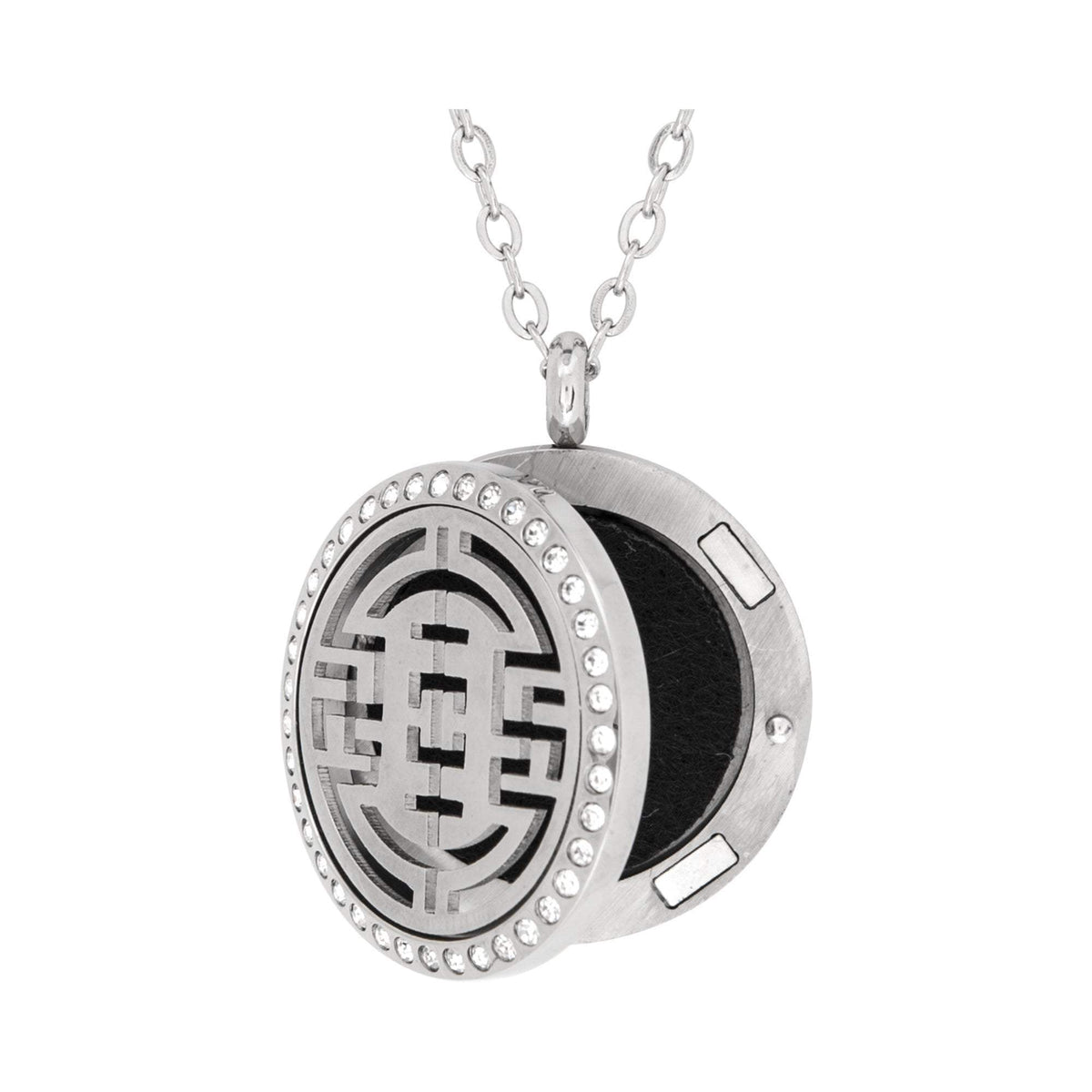 Serina & Company Stainless Steel Orient Crystal Pendant