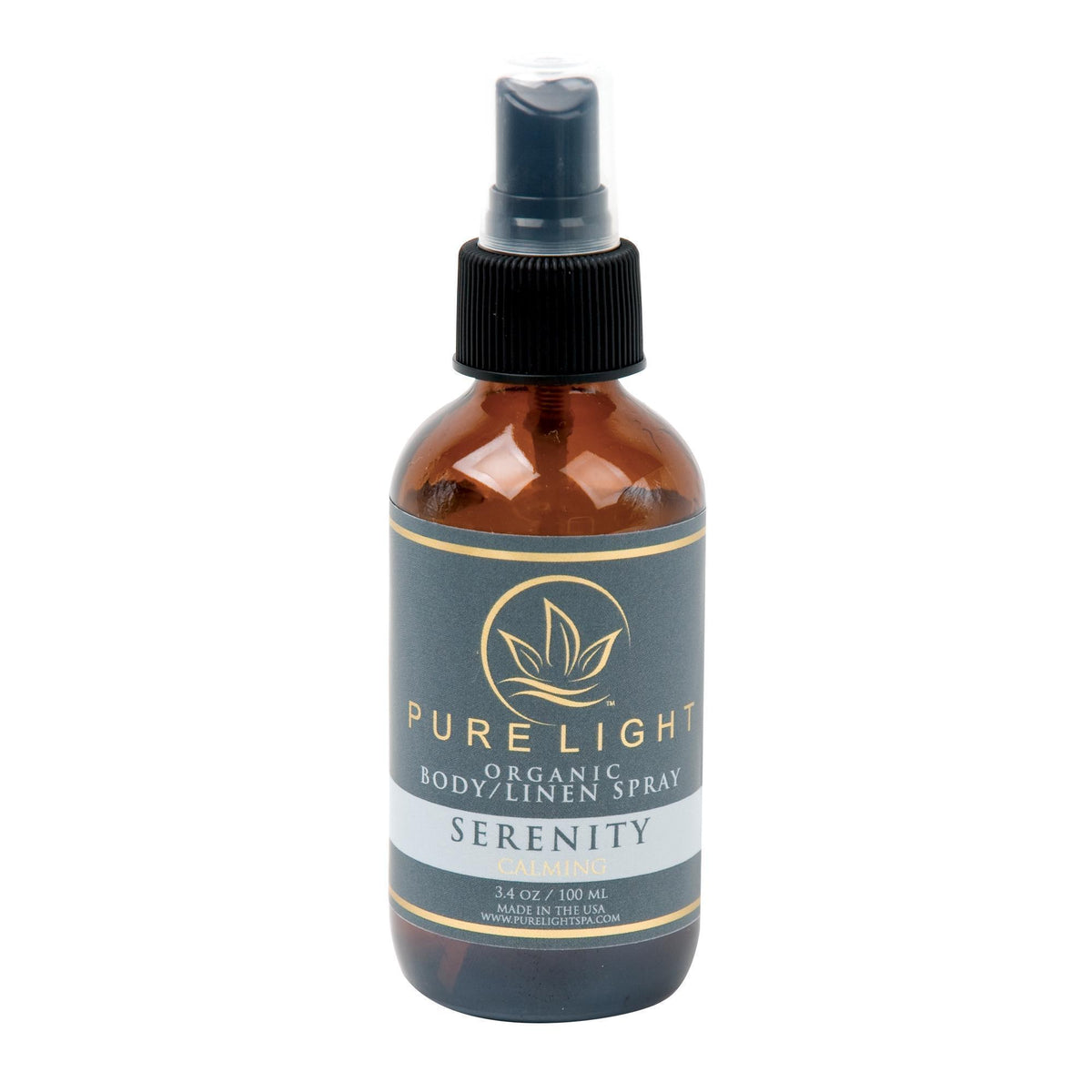 Linen & Room Spray Pure Light Organic Body  and  Room Spray / Serenity / 4oz