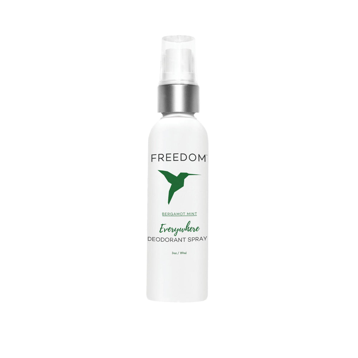Makeup, Skin & Personal Care Bergamont Mint Freedom Natural Deodorant Everywhere Spray, 3 oz