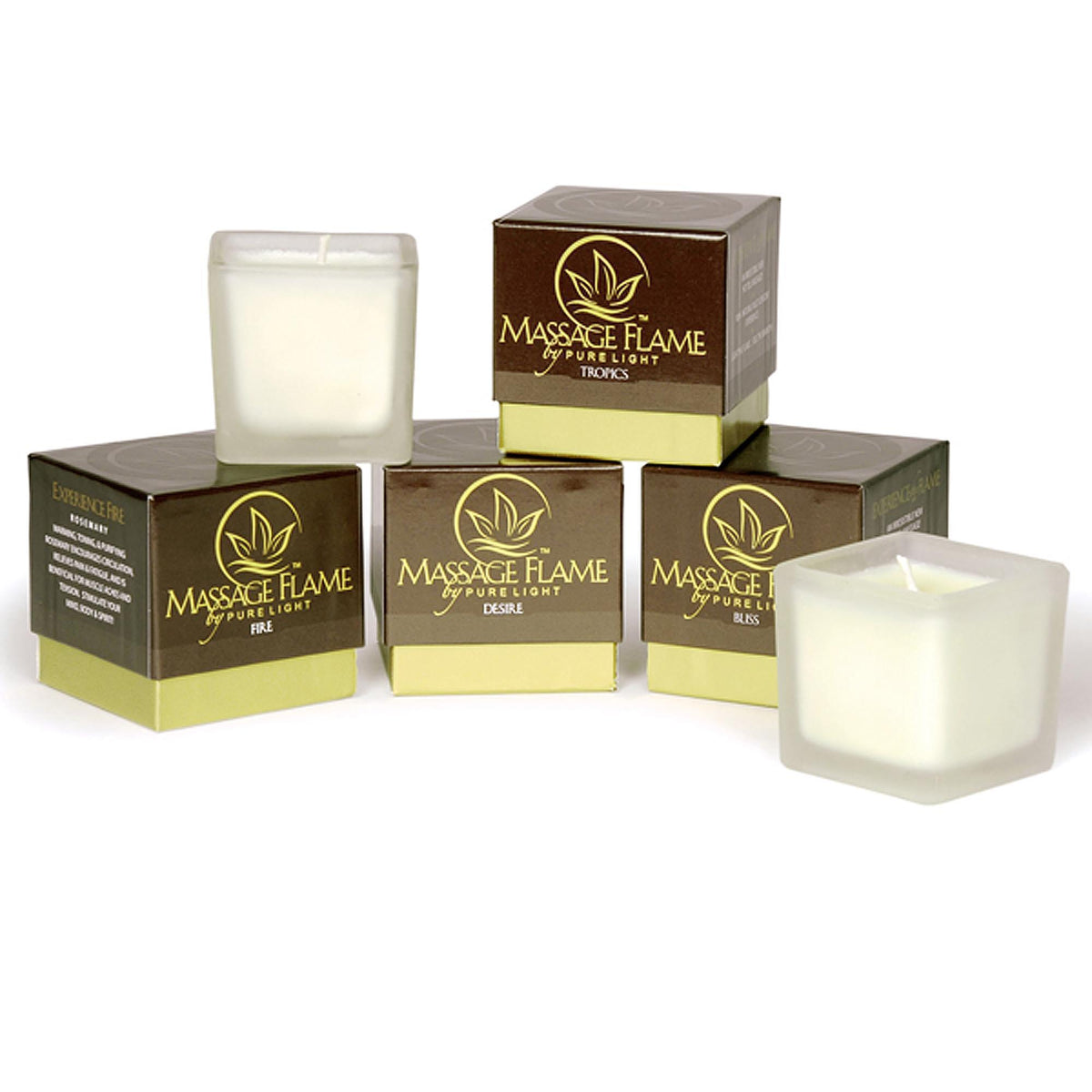Pure Light Flora Massage Flame Candle