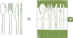 Replace Single-Use cutlery for Bamboo cutlery