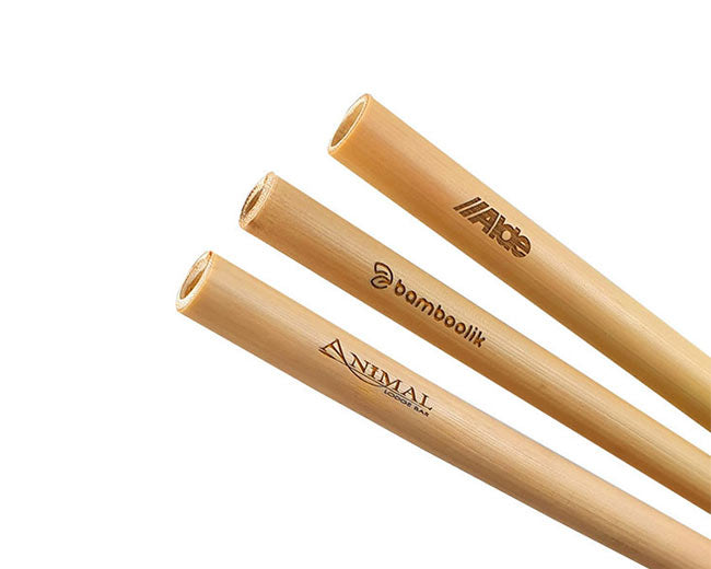 Engraved Customized Biodegredable Bamboo Straws