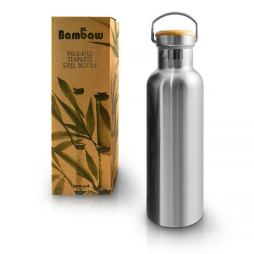 Insulated water bottle, made of stainless steel. 750 ml.