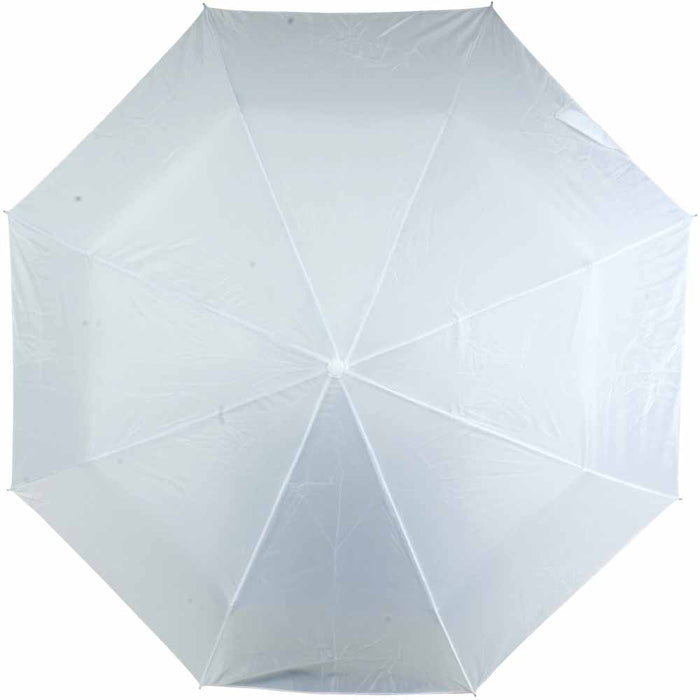 Polyester 190T folding umbrella in matching sleeve. Size Ø 94 cm