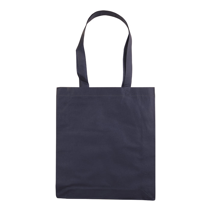 Stitched 80 g/m2 non-woven fabric shopping bag, long handles. Product size 42 X 38 CM (HANDLES: 75 X 2 CM)
