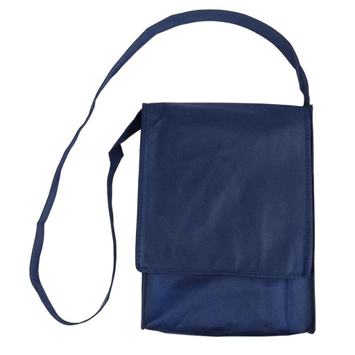 Stitched 80 g/m2 non-woven fabric haversack shoulder bag with gusset. Product size 23 X 34 X 5 CM
