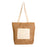 Jute shopping bag with bottom gusset, handles and front pocket (18 x 15 cm) in natural cotton, zip closure. Product size 35 X 37 CM