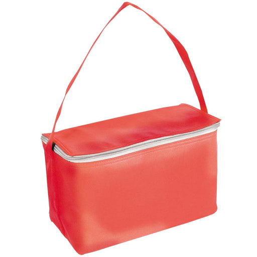 Non woven cooler bag 80 gr with a carry handle. Size 32 x 18 x 18 cm