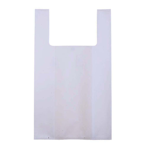 Heat-sealed 45 g/m2 non-woven fabric mini shopping bag. Product size 24 X 39 X 12 CM