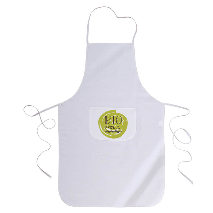 30% cotton/70% polyester (160 g/m2) cooking apron with front pocket, 60 x 92 cm
