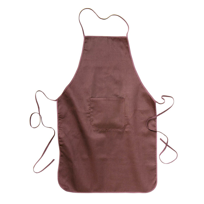 30% cotton/70% polyester (180 g/m2) long cooking apron with front pocket, 60 x 92 cm