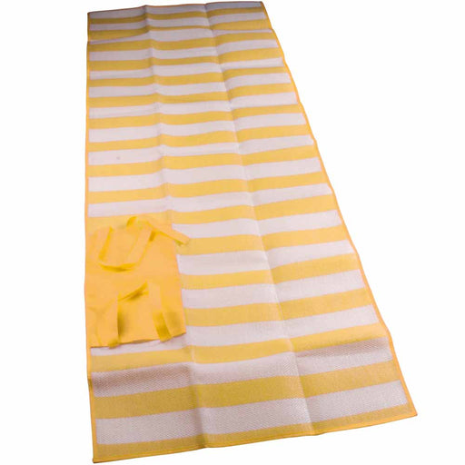 PP foldable beach mat, 180 x 70 cm, with non-woven fabric headrest and practical carry handles